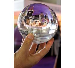 Kristallkula med fot 070 klar